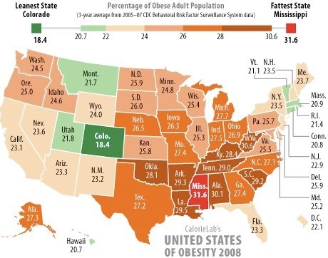 Hypothesis Colorado Has The Best UV And Thus Best Health In The - Vitamin d map us