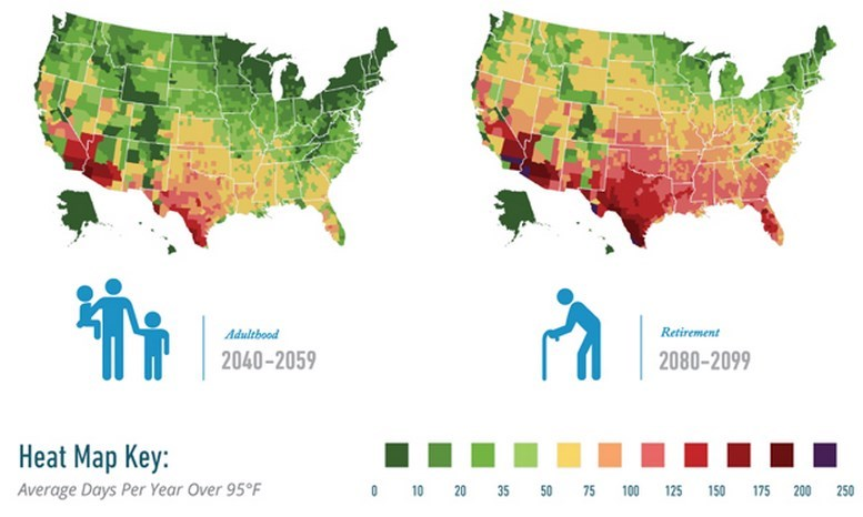 Far More Hot Days And Air Conditioning And Thus Less Vitamin D - Vitamin d map us